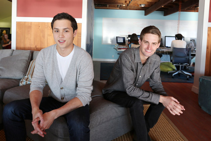 Evan Spiegel and Robert Murphy