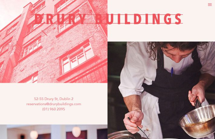 A Drury Buildings honlapja