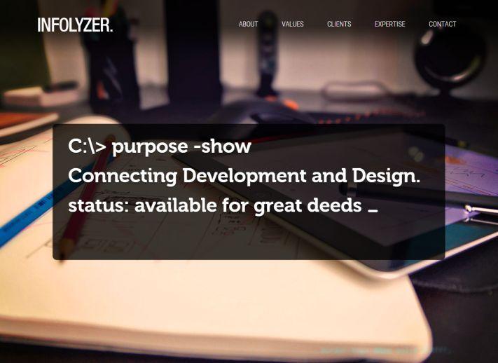 infolyzer-egyoldalas-webdesign