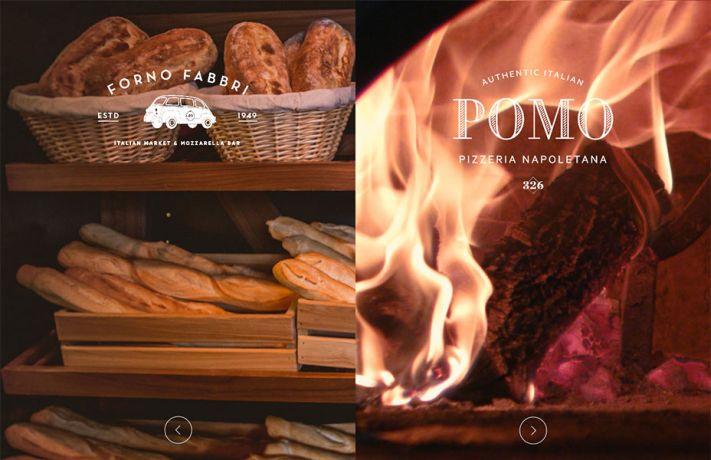 A Pomo pizzeria weboldala