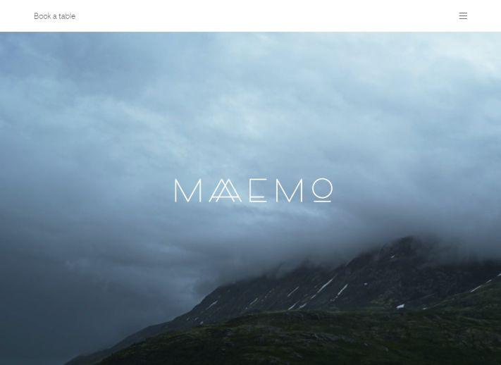 Egy norvég étterem honlapja: igazán minimalista webdesign