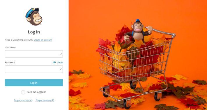 A Mailchimp weboldala jól használt whitespace-szel