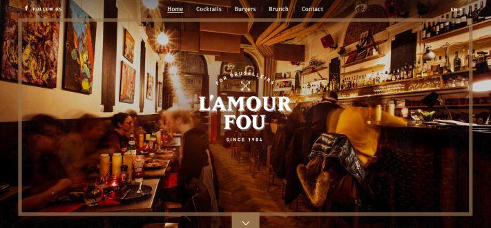 Egy brüsszeli étterem weboldala, érdemes kattintani
