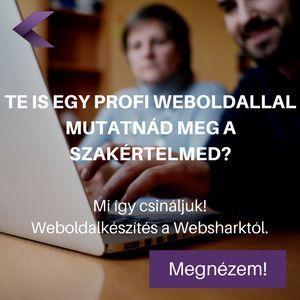 Webshark weboldal készítés