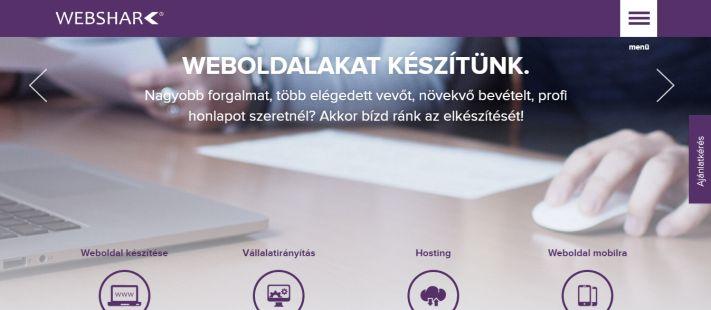 Webshark-fooldal