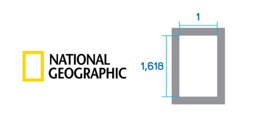 Aranymetszés aránya a National Geographic logójánál