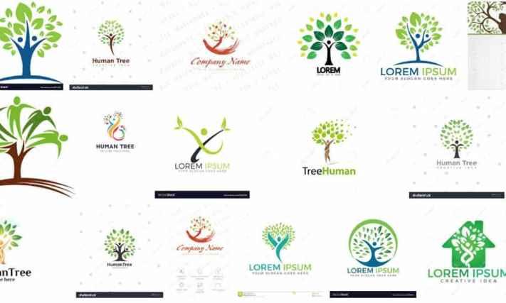 Emberi fa, mint logó - már csak egy sablon