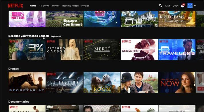 A Netflix ajánlója