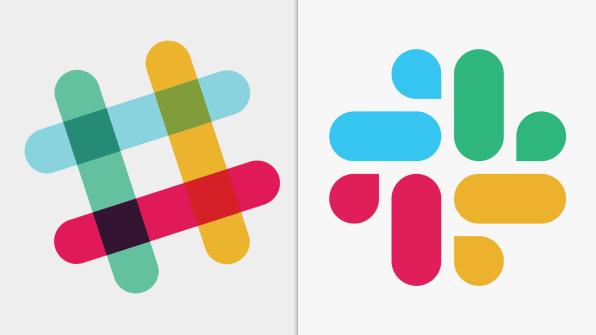 A régi és az új Slack logó
