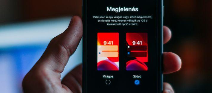 Sötét mód az iOS-en